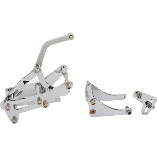 Bills Hot Rod Co. SBC P/S and Alt. Brackets, Side, Long, Chrome