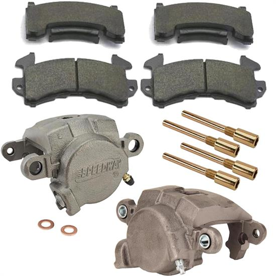 78-88GM Metric Loaded Brake Caliper Kit w/D154 Wilwood PolyE Pads