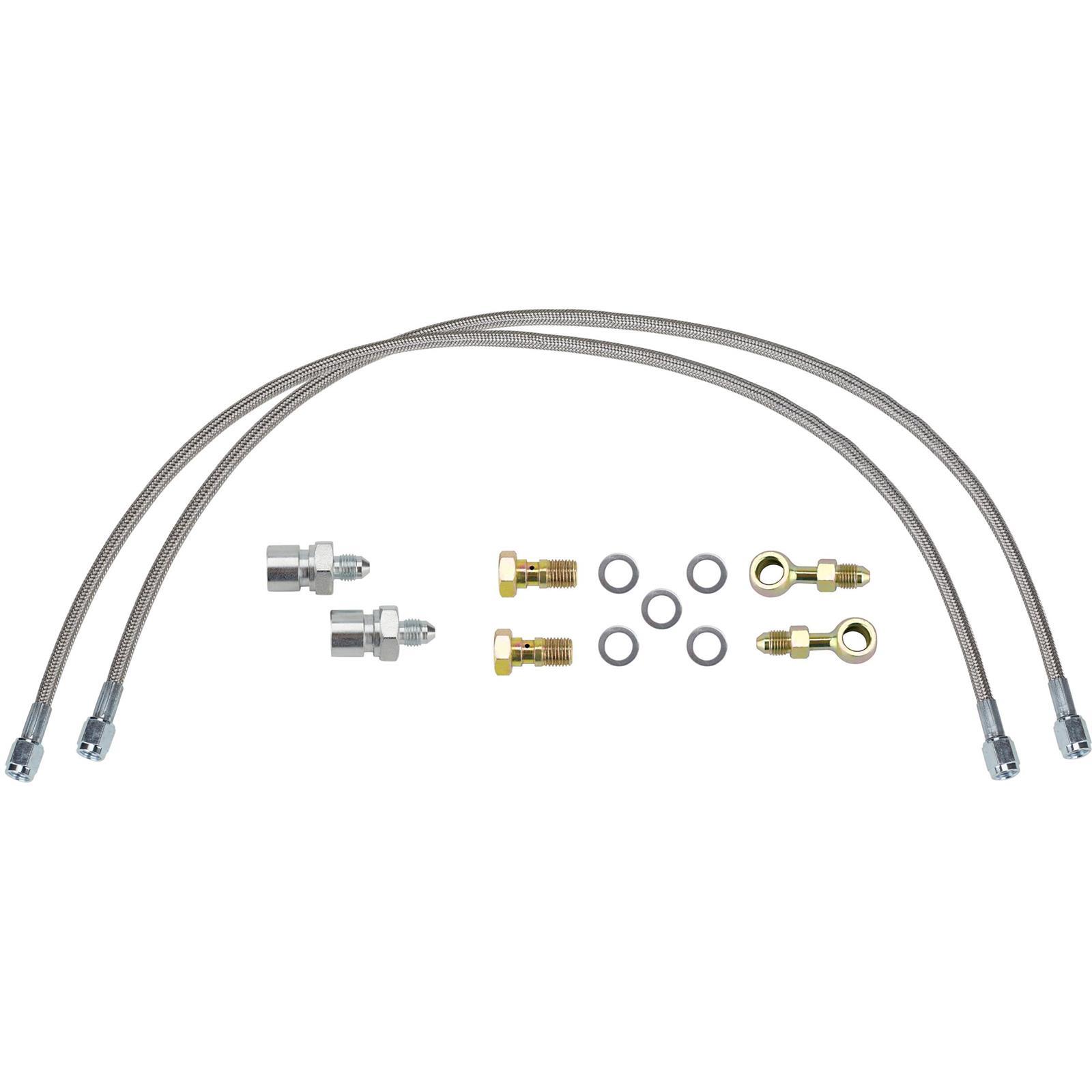 Yellow Hose /& Stainless Banjos Pro Braking PBK2833-YEL-SIL Front//Rear Braided Brake Line