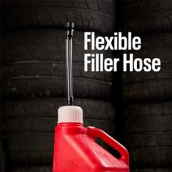 Utility Fuel Jug Flex Hose Kit w/Shut-Off Valve/Cap/Spout/Adapter