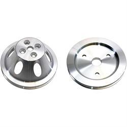 Short Pump Small Block Chevy Aluminum Double Upper Pulley