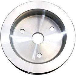 Small Block Chevy Aluminum Double Groove Pulley Set, Short Pump