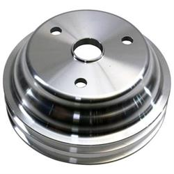 SBC Aluminum Pulley Set, 1-Groove Upper/2-Groove Lower, Long Pump