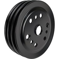 SBC Black Pulley Set, 2-Groove Upper/3-Groove Lower, Short Pump