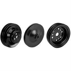 SBC Pulley Set, 2-Groove Up/3-Groove Low/Single-PS, Short Pump
