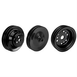SBC Pulley Set, 2-Groove Up/3-Groove Low/Double-PS, Short Pump