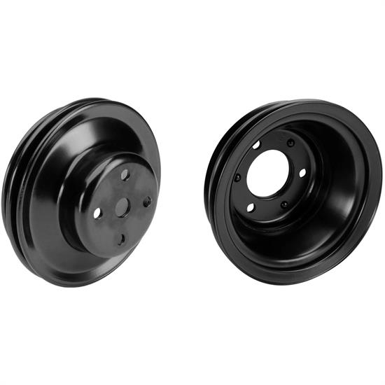 BBC Black Pulley Set, 2-Groove Upper/3-Groove Lower, Long Pump
