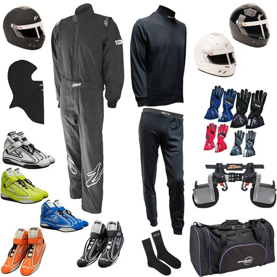 Zamp Mega Racer Safety Kit, ZR-10 Single-Layer 1-Piece Suit Combo