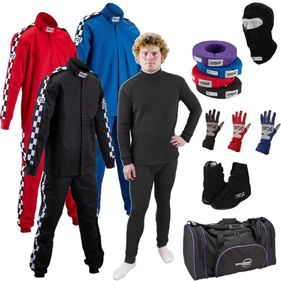 Finishline Ultra Racer Safety Kit, Underwear/1-Layer 2-Piece Suit