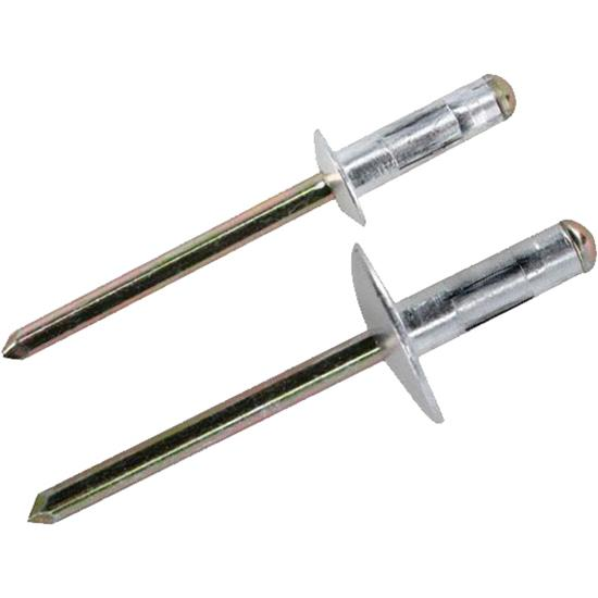 Multi-Grip Pop Rivets, 3/16 Inch, Small and Large Head, 250 Each