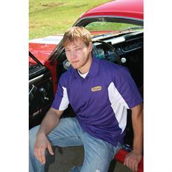 Speedway Purple Performance Sport Shirt, Medium