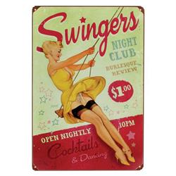 Swingers Vintage Tin Sign