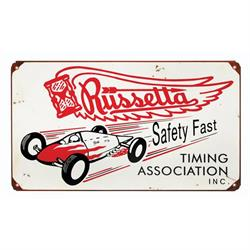 Russetta Timing Association Metal Sign