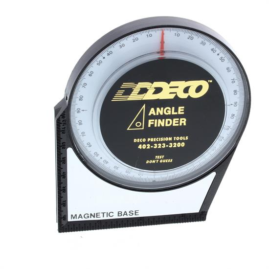 DECO Magnetic Angle Finder Gauge Tool, 4.14 In. Diameter
