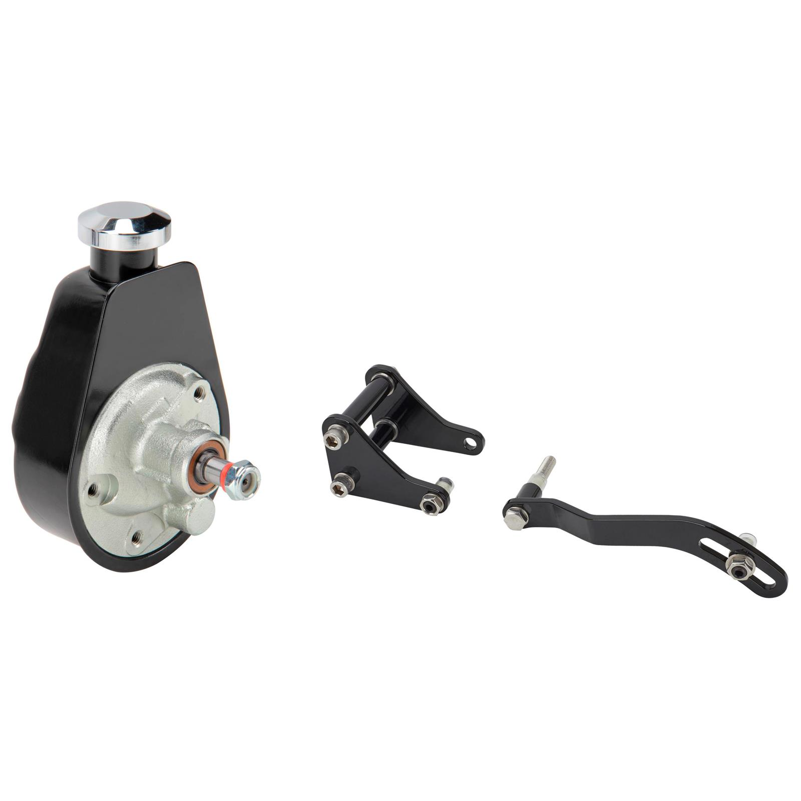 PTNHZ Saginaw Power Steering Pump P Series 5//8 Keyway Pulley Shaft Chrome Street//Hot Rod Reservoir Gearbox Relacement For 66-74 GM Chevy Chevrolet