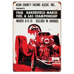 1968 Bakersfield Vintage Tin Sign