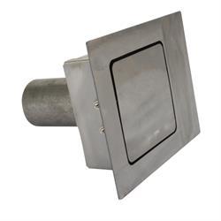 Hagan Street Rods 90SF 90 Degree Flat Series Square Fuel Door