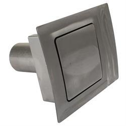 Hagan Street Rods 90 SQ 90 Curve Series Fuel Door, Square