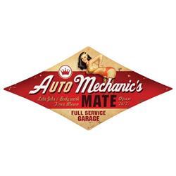 Auto Mechanic Vintage Metal Sign