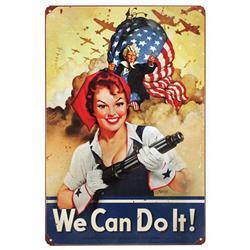 Rosie the Riveter Vintage Tin Sign