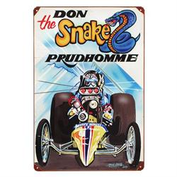 Snake Drag Garage Vintage Tin Sign