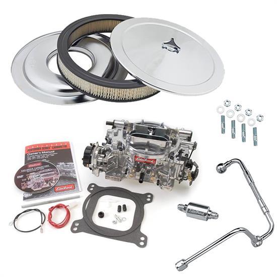 Edelbrock 8128 Stainless Steel Carburetor Dual Feed Fuel Line Kit