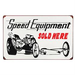 Speed Equipment Dragster Vintage Tin Sign