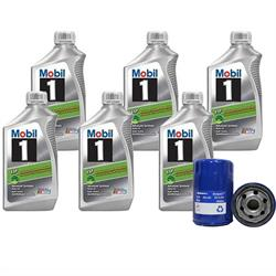 Mobil 1 ESP 5W30/AC Delco PF61 Filter Oil Change Kit, 6 Quart
