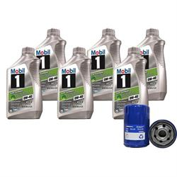 Mobil 1 ESP 0W40/AC Delco PF61 Filter Oil Change Kit, 6 Quart