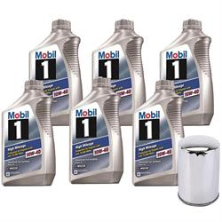 Mobil 1 103536 High Mileage 10W40/Chrome Filter Oil Change Kit