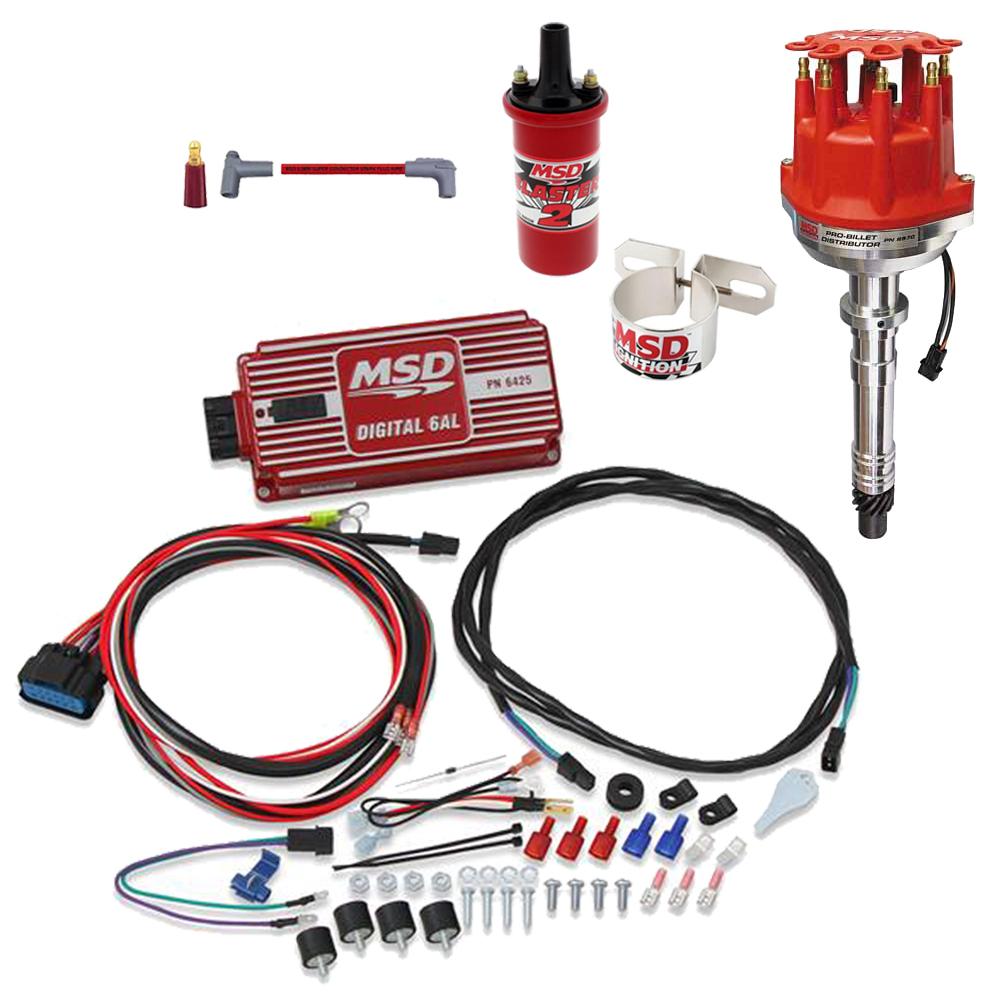 msd 8570 pro-billet chevy distrib. ignition kit, 6425/8202/31229  speedway motors