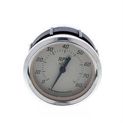 Omega Kustom 8000 RPM Tachometer Gauge, 3-3/8, Timeless Tan