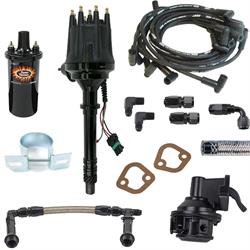 SBC Ready-to-Run Ignition/Fuel Delivery Kit-80 GPH Pump,6AN,Black