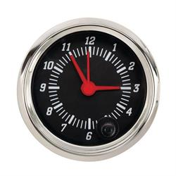 Omega Kustom Clock Gauge, Black Top, 2-1/16