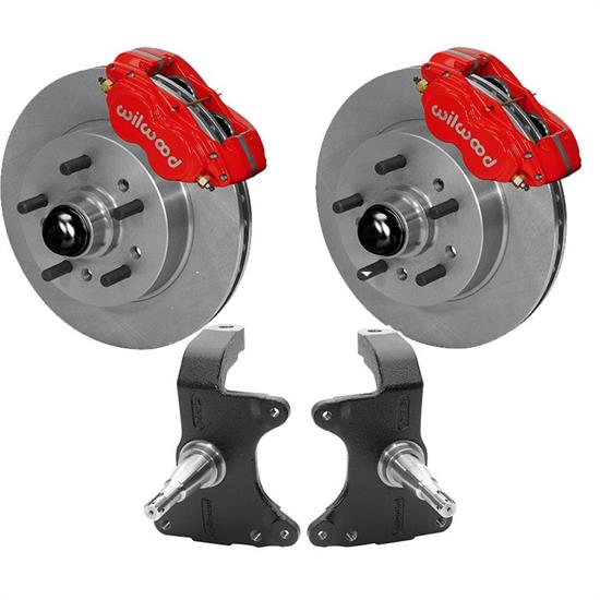 Wilwood Front AFX ProSpindle/Disc Brake Kit, 11 Inch Rotor, Red