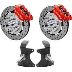 Wilwood AFX ProSpindle/Disc Brake Kit, 11.75 Drilled Rotor, Red