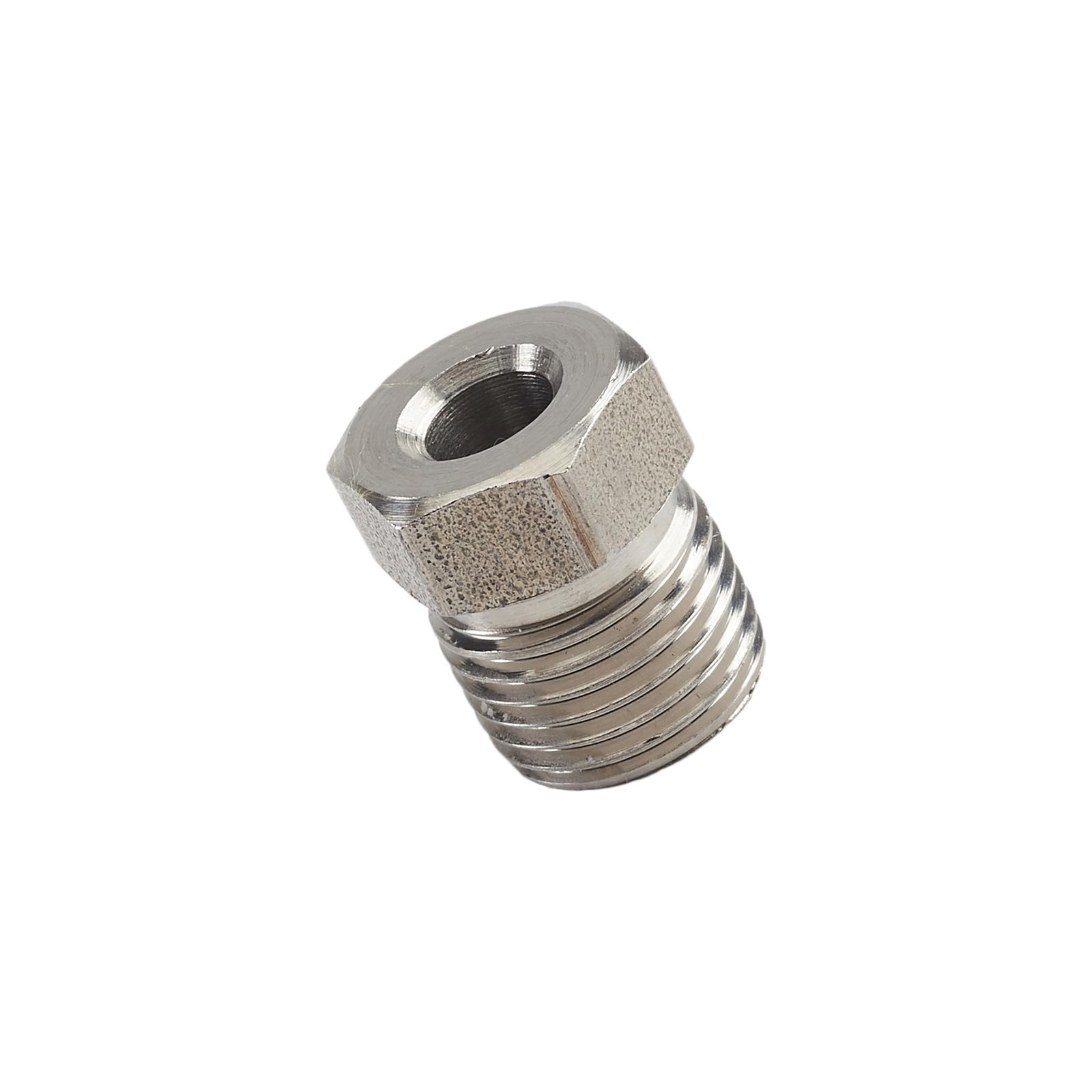 Inverted Flare Steel Tube Nuts 1//4 Line Pack of 10 SAE 7//16 X 24 thread Long