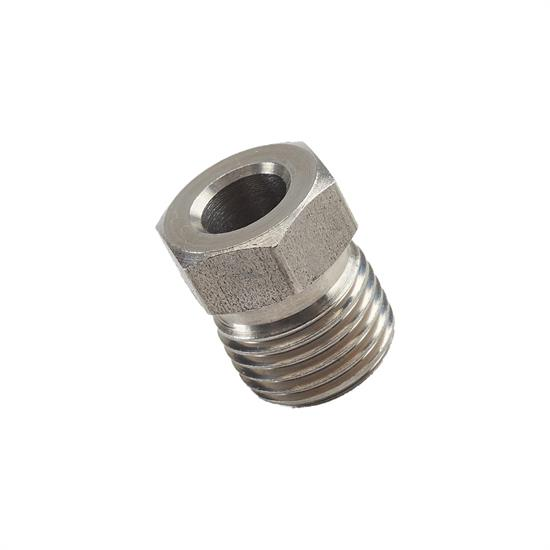 Speedway Stainless Steel 1/2 Inch Fitting Tube Nut, 1/4 Tubing
