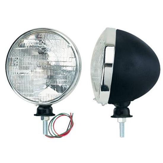 Black Dietz Type Headlights, Halogen Bulb