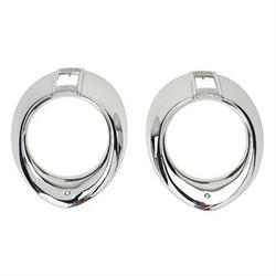 Headlight Trim Rings, 1940 Ford/Mercury Dlx, 1940-41 Ford Truck Chrome