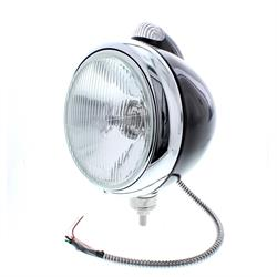 Speedway Guide 682-C Style 12 Volt Headlight, Black