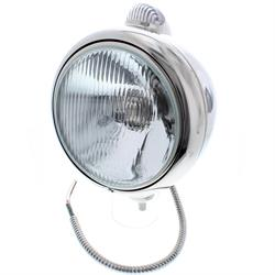 Speedway Guide 682-C Style 12 Volt Headlight, Stainless