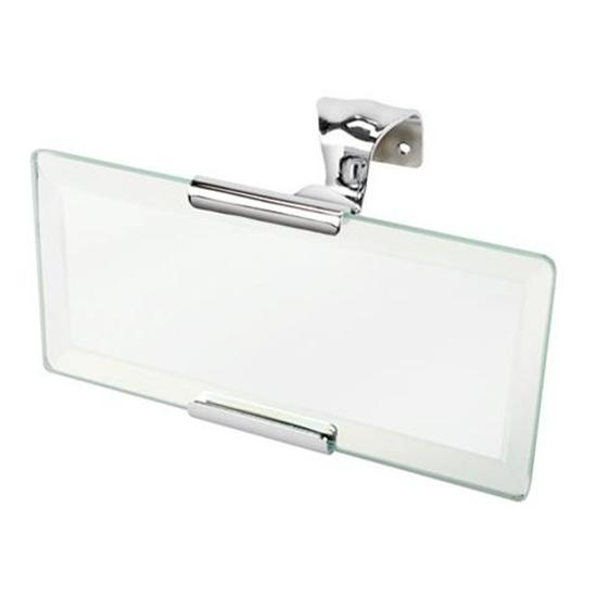 Roadster Rectangular Mirror, Stainless