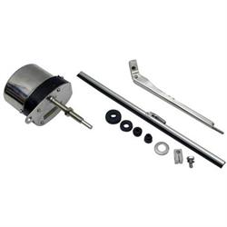 Speedway Deluxe Stainless 12 Volt Electric Windshield Wiper Motor Kit