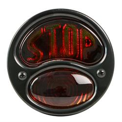 Replacement Tail Light, Red Glass Lens w/STOP Text, 28-31 Ford