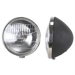 1934 Ford Commercial Headlights, 12V Halogen, Stock 9-1/2 In Diameter