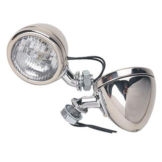 Speedway 1933-34 Ford Stainless Steel 12 Volt Cowl Lights, 2-1/2 Inch