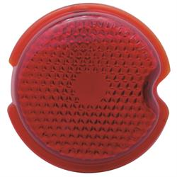 1939 Chevy Glass Taillight Lens, Standard Red