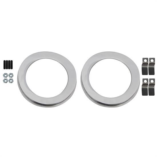 3 8 3 8 Indicator : Tapered aluminum dual gauge panel inch