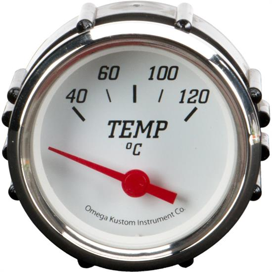 "2"" Metric Temperature Gauge, White"